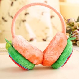 girls earmuffs UK - Kids Ear Muffs Winter Warm Lovely Plush Children Earmuffs Spiderman Batman Strawberry Thick Boys Girls Cover Ears Accessories