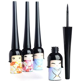 Chinese  XY Fancy Cute Cartoon Japanese Doll Waterproof Liquid Eyeliner Pen Long-lasting Eye Makeup Cosmetic Random Color manufacturers