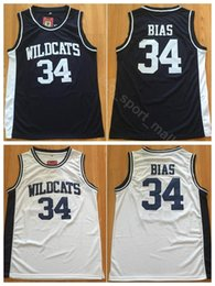 School SportS uniformS online shopping - Wildcats College Bias Black Jersey Men High School Basketball Sport Uniform Team Color Black White Breathable Embroidery And Sewing