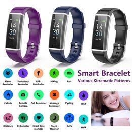 Smart Watch Grey Phone Australia - Y3 Color Smart Band Bracelet Heart Rate Monitor Sports Smart Watch Passometer Fitness Auto Sleep Tracker Waterproof Wristband