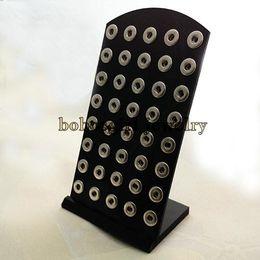 $enCountryForm.capitalKeyWord Australia - Wholesale-Z08 Black Acylic display for snap button jewelry (fit 12mm snap)