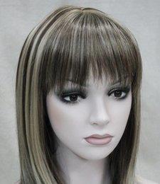 $enCountryForm.capitalKeyWord Australia - WIG LL FREE Hot heat resistant Party hair>>>>Fashion Dark Brown Medium short Women Ladies Daily Hair Full Wig
