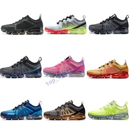 cheaper running shoes UK - 2019 Cheaper Xamropav Mens Womens Running Shoes Triple Black Silver Volt Royal Blue Gold Red Grey Pink Athletic Sports Sneakers