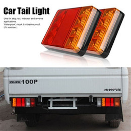 Tail Light Parts NZ - Best Deal Car Truck LED Rear Tail Light Warning Lights Rear Lamps Waterproof Tailight Parts for Trailer Caravans DC 12V 24V