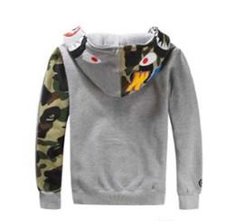 7bd2a46d8998 Veste de jogging pour homme et femme vêtement de sport pullover pull  chandail oeufs à col rond drake chapeau de hip-hop noir bouche de requin  mâle