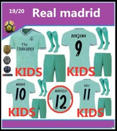 e4aeb71d3 KIDS 19 20 Real madrid Soccer jerseys 2019 2020 BENZEMA MODRIC isco MARCELO  bale ASENSIO camiseta de futbol football shirts kit with socks