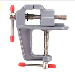 Discount mini craft tools - Durable New 30MM DIY Mini Aluminum Alloy Craft little Jewelry Light Table Bench Clamp Varied Tool Vice