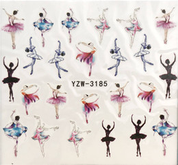 pattern decor Australia - YZWLE 1 Sheet Nail Art Water Decal Dancer ballet Nail Sliders Decor Tips Pattern Sticker For Beauty Care