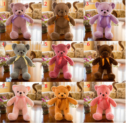 Stuffed bear SweaterS online shopping - New Genuine Colors Teddy Bear Plush toy Sweater Bear CM Teddy Bear Stuffed Animals All Series Teddy Doll