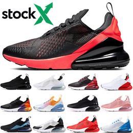 X photos online shopping - New Stock X Bred men women running shoes triple black white cactus pink Photo Blue University Red mens trainer outdoor sports sneakers