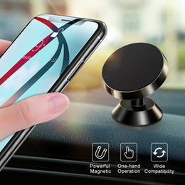 support air iphone UK - Universal Magnetic Car Phone Holder Stand in Car For iPhone X Samsung Magnet Air Vent Mount Cell Mobile Phone Support GPS