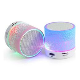 Lg Mini Audio NZ - Sago A9 Bluetooth Speaker Mini Wireless Loudspeaker Crack LED TF USB Subwoofer bluetooth Speakers mp3 stereo audio music player