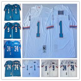 6786ee5a4 NCAA Top Sell Men Jersey  1 Warren Moon Houston  34 Earl Campbell  74 Bruce  Matthews  9 Steve McNair Stitching Football Jerseys
