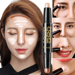make up brown cream NZ - Lady Facial Highlight Foundation Base Contour Stick Beauty Make Up Face Powder Cream Shimmer Concealer Camouflage Pen Makeup