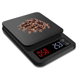 $enCountryForm.capitalKeyWord Australia - Household Kitchen Scales 5000g 0.1g Digital Drip Coffee Scale Timer Measuring Tool Weighing Food Scales Electronic scale