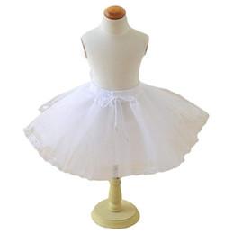 $enCountryForm.capitalKeyWord Australia - 2019 White Short Girls Wedding Petticoats Three Layers Lace Edge Tulle Boneless Petticoat Simple Mini Underskirts for