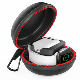 Опт Подставка для зарядки для Apple Watch и Airpods, водонепроницаемый жесткий защитный портативный переносной футляр для зарядного устройства для док-станции iWatch серии 1 2 3 4