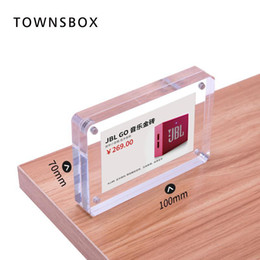 $enCountryForm.capitalKeyWord Australia - Magnetic Label Frame Acrylic Block Frame Desk Sign Holder Acrylic Photo Frame Stand Desk Paper Card Picture Price Tag Display