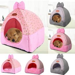 Small Houses Designs Australia - Pet Dog Cat Tent House Kennel Winter Warm Nest Soft Foldable Sleeping Mat Pad Pets Mat Soft Warm Fleece Print Design