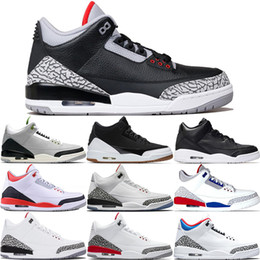 Wholesale III Mens Basketball Shoes Mocha Charity Game Pure White Infrared Black Cement Fire Red Free Throw Line III Sports Designer Sneakers