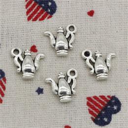 Wholesalers For Teapots NZ - 192pcs Charms double sided fancy silver teapot 14*15mm Pendant,Tibetan Silver Pendant,For DIY Necklace & Bracelets Jewelry Accessories