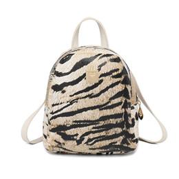 Großhandel Mini rucksack für frauen crossbody taschen 2019 mode weibliche umhängetasche tiger muster pu-leder dual-use girl dame tasche