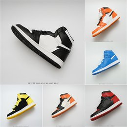 Discount ring basketball - 1 OG Basketball Shoes Mens Chicago 1S 6 rings Sneakers Bred Toe Trainers WOMEN MID New Love UNC Sport Shoes Banned desig