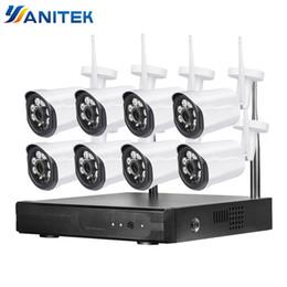 Ip Dvr 8ch Australia - Home Security Camera CCTV System Wireless DVR 8CH IP CCTV Kit HD 1080P P2P IR Night Vision Plug Play Video Surveillance Wifi Kit