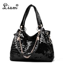 Shiny Lady Handbags Australia - Bags For Women Fashion Women Bag Leather Sequins Women Handbags Shiny Ladies Handbag Chain Shoulder Bags Brand Designer