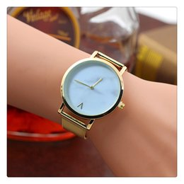 Watches Gifts For Girlfriend NZ - Fashion Creative Mesh Band Watch Marble Quartz Watch Casual Women Stainless Steel Wristwatches A Gift For Girlfriend
