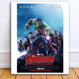 Marvel Canvas Prints Australia - Nordic Poster Avengers Endgame Marvel Avengers HD Poster Canvas Painting Oil Framed Wall Art Print Pictures For Living Room Home Decoracion
