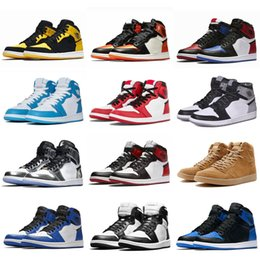 plastic toe Australia - 2020 New Jumpman 1 High OG Bred Toe Chicago Game Casual Shoes Men 1s Top 3 Shattered Backboard Shadow Multicolor Sneakers