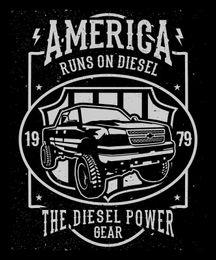$enCountryForm.capitalKeyWord Australia - Runs On Diesel Hot Rod Truck Shirt Mens T Shirt Black Tee T Shirt For Men Popular White Short Sleeve Custom Big Size Party Tshirts