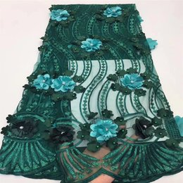 Wholesale tulle lace nigerian fabric for sale - Group buy Tollola Best Selling African Lace Fabric With Sequins Nigerian French Fabric High Quality African Tulle Lace Fabric in Teal