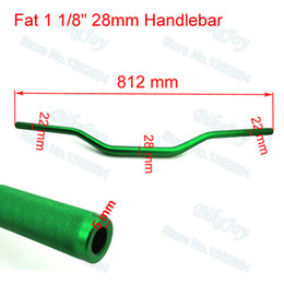 "dirt bike quads atv NZ - Green 1 1 8"" 28mm Aluminum Alloy Fat Bar Handlebar Hand Bar For Thumpstar SSR Pit Dirt Bike Motocross ATV Quad Motorcycle"