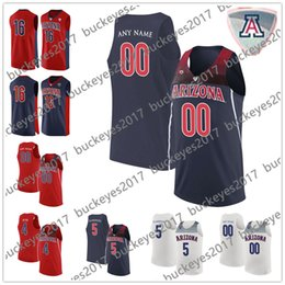 red basketball jerseys NZ - Custom Arizona Wildcats 5 Brandon Randolph 2 Williams 4 Chase Jeter Stitched Any Name Number Red Navy Blue NCAA College Basketball Jerseys