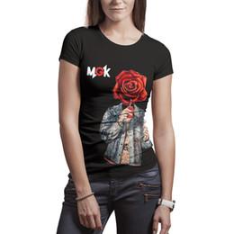 ecbfb5804 Woman Machine Gun rapper Kelly name MGK t shirts Polyester white design  vintage slim fit Tees
