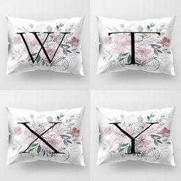 $enCountryForm.capitalKeyWord Australia - 45# High Quality Vintage Flower Letter Throw Pillow Protector Case Cushion Cover Bedding Articles Home Decor Pillow Case