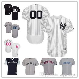 d49b1888d69 2018 custom Men women youth NY Yankees Jersey Personalized  00 Any Your name  and number Home Black White Grey Baseball Jerseys