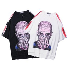 $enCountryForm.capitalKeyWord NZ - Streetwear Men Hip Hop 3D characters printed Harajuku Summer short sleeve T Shirts Front short back long men oversized Top tee