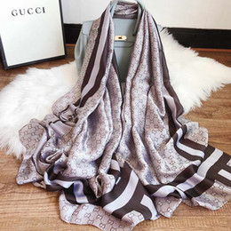Floral scarFs online shopping - Famous Designer Silk Scarf Hot Sale Womens Luxury Fashion Shawl Scarf Seasons Long Neck Ring Size x90cm Colors with Gift Box Optional