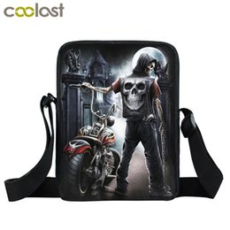Gothic handbaGs online shopping - Skull Crossbody Bags for Men Women Handbag Magic Gothic Bag Ladies Clutch Children School Bags dames tassen Boys Shoulder
