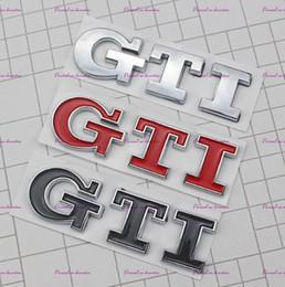 3D GTI Logo Emblema Decalque Tronco Adesivo para VW Volkswagen Jetta Polo Golf 6 7 venda por atacado