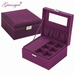 Wood Display Cases Australia - Guanya Brand Style 4 Color Practical Flannel Jewelry Box Jewelry Display Earrings Necklace Pendant Storage Container Case Gift T7190613