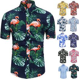 6ce43775f 100% Cotton Mens Hawaiian Shirts Male Casual Camisa Masculina Printed Beach  Shirts Aloha Shirts Short Sleeve Summer Party Shirt