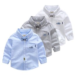$enCountryForm.capitalKeyWord Australia - Autumn Cotton Boy Tops Tee Children Clothing Little Boys Shirts Blusas White Baby Blouse Shirt Toddler Long Sleeve Shirt Kids