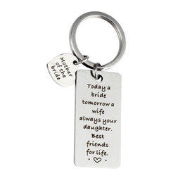 Personalized key rings for men online shopping - Wedding Gift Key ring Mother of the Bride square personalized Key ring Best Friends for Life