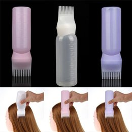 $enCountryForm.capitalKeyWord Australia - 120ML Hair Dye Bottle Applicator Brush Dispensing Salon Hair Coloring Dyeing Gift for Girls Hair Dry