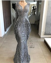 Sheath Plus Size Dress Australia - 2019 Lace Sheath Lace Prom Evening Dresses Mermaid Sequins Formal Party Gown Plus Size Pageant Dresses Custom Made BC0951