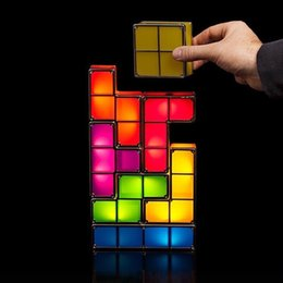 $enCountryForm.capitalKeyWord Australia - LED Night Light 7 Colors Tetris Stackable Tangram Puzzle Induction Interlocking Desk Lamp 3D Toys Ideal Gift Magical Decorations